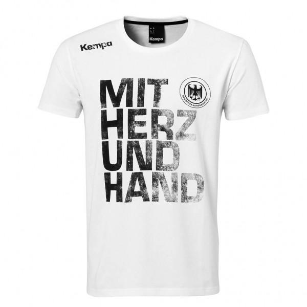 Kempa DHB Mit Herz & Hand T-Shirt - weiss