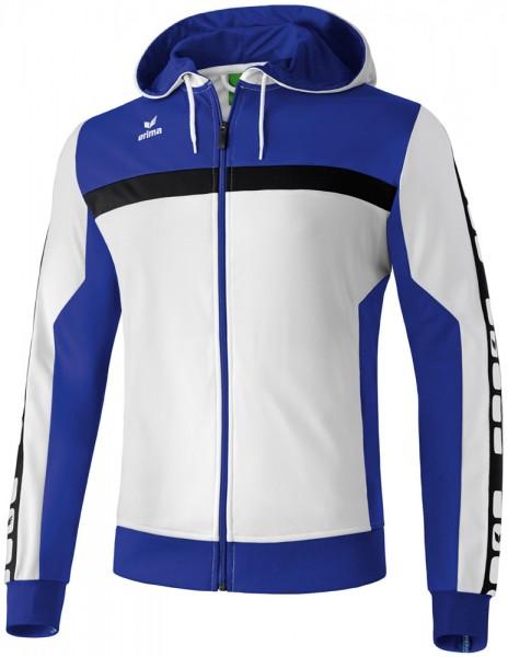 erima-5-cubes-trainingsjacke-mit-kapuze-weiss-blau