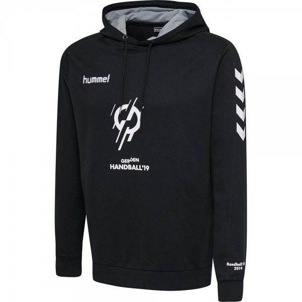 hummel IHF Cotton Hoodie in schwarz für die Handball WM 2019