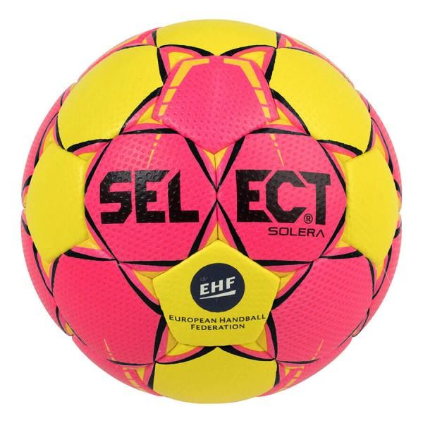 Der neue Select Solera Handball in gelb-pink