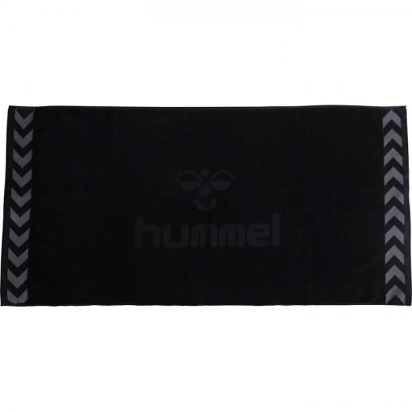 hummel Handtuch Old School black - groß -160x70 cm