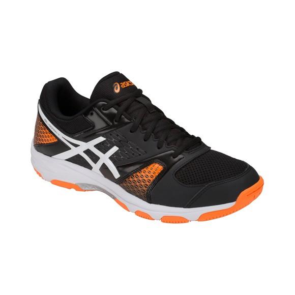 Die neuen asics gel-Domain 4 Handballschuhe in schwarz/orange