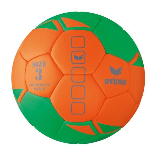 Der neue Erima Gripytonyte Match Handball in orange/grün