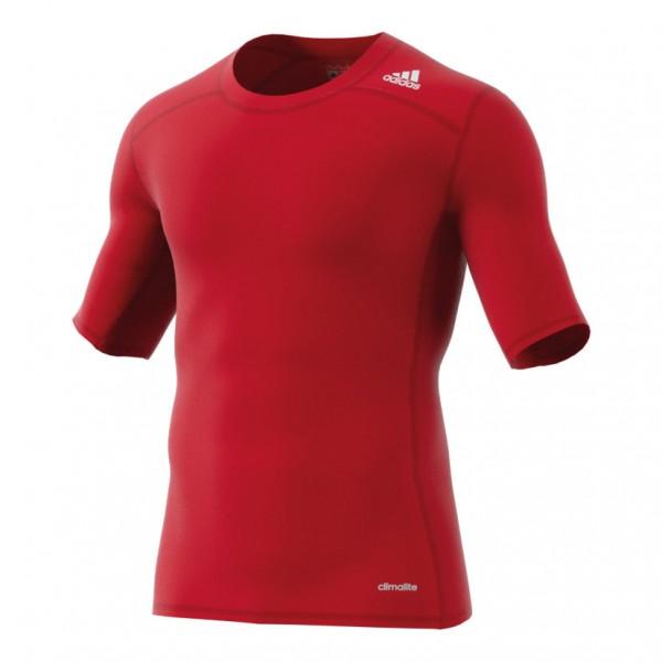 adidas Techfit Base Funktionsshirt Kurzarm rot