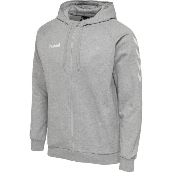 hummel-go-cotton-zip-hoodie-grau