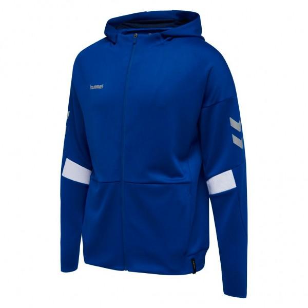 hummel-tech-move-zip-hoodie-blau
