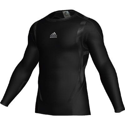 Adidas Techfit Powerweb L/S Tee - black/light onix