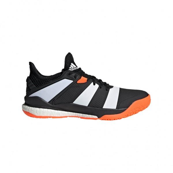 Die neuen adidas Stabil X Handballschuhe in schwarz/weiss für die neue Saison