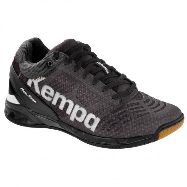 Die neuen Kempa Attack Midcut Handballschuhe in schwarz bestellen.