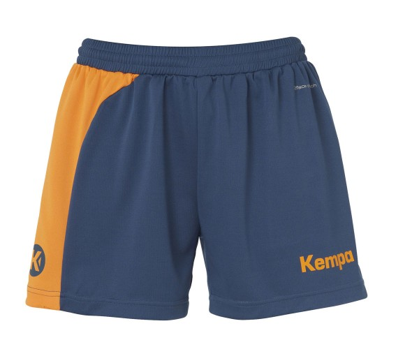 kempa-peak-damen-shorts-petrol-orange