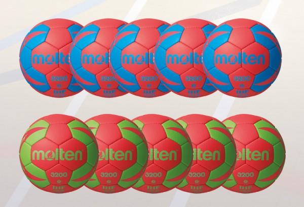 Molten 10er Ballpaket H-X3200 in Größe und Farbe frei wählbar.