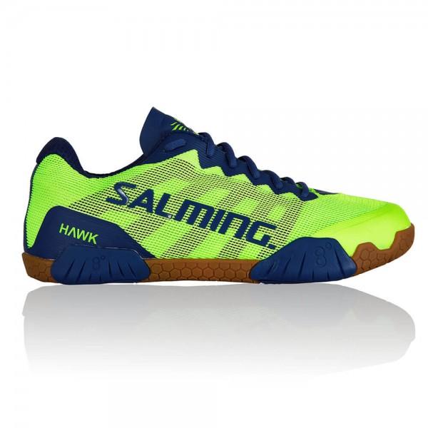 Die neuen Salming Hawk Handballschuhe in neon grün