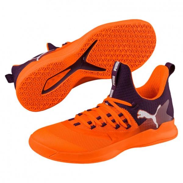 Die neuen Puma Rise XT Fuse 2 Handballschuhe Herren in orange