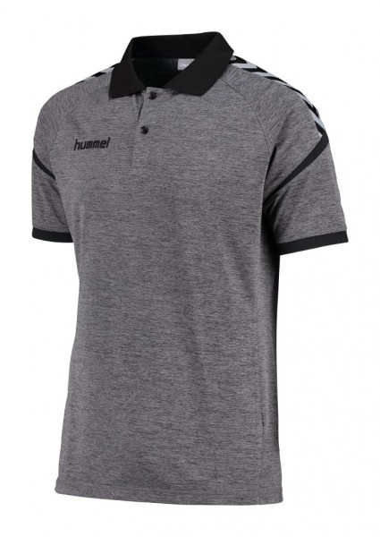 hummel-authentic-charge-polo-dark-grey