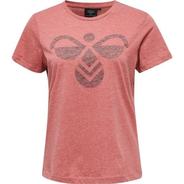 Das neue hummel FAUNA T-Shirt für Damen in mineral red