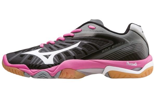 Die neuen Mizuno Wave Mirage Handballschuhe Damen in schwarz/pink jetzt kaufen