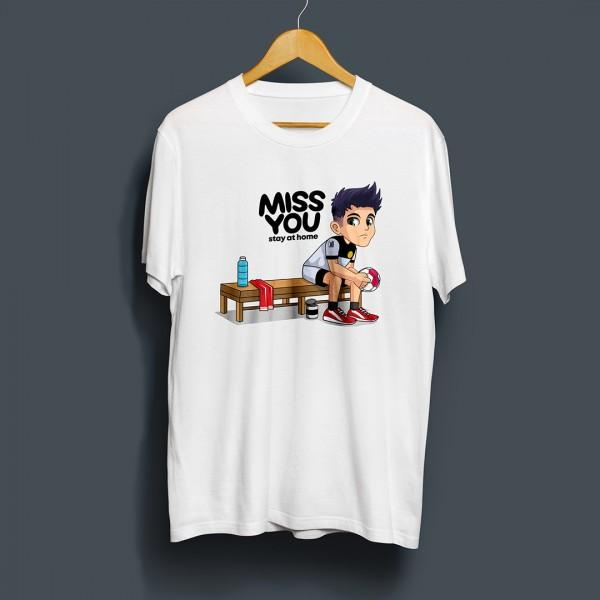Handball-Markt T-Shirt MISS YOU in weiss