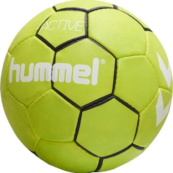 Der neue hummel Active Handball in neongelb