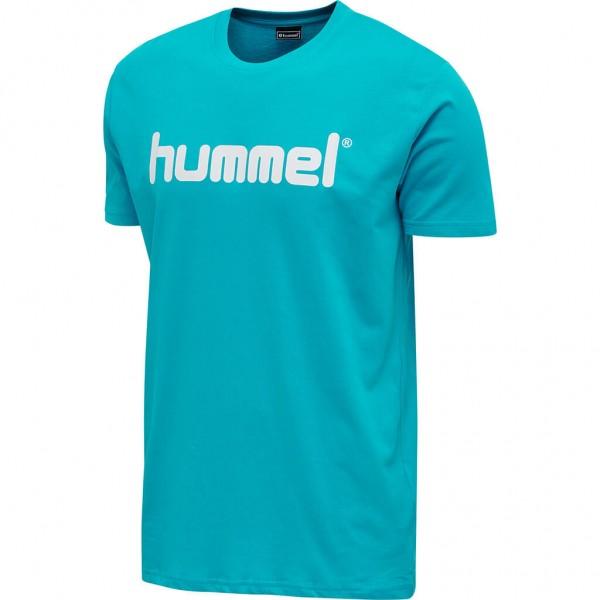 Das neue hummel GO Cotton Logo T-Shirt in bluebird