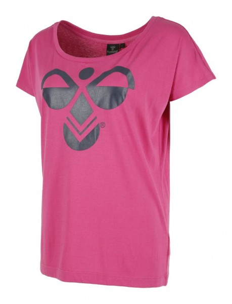 hummel Classic Bee Women Loose T-Shirt in rosa/schwarz