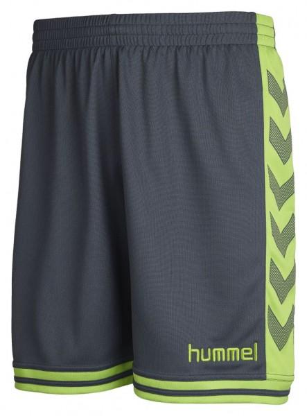 hummel-sirius-shorts-grau-neongruen