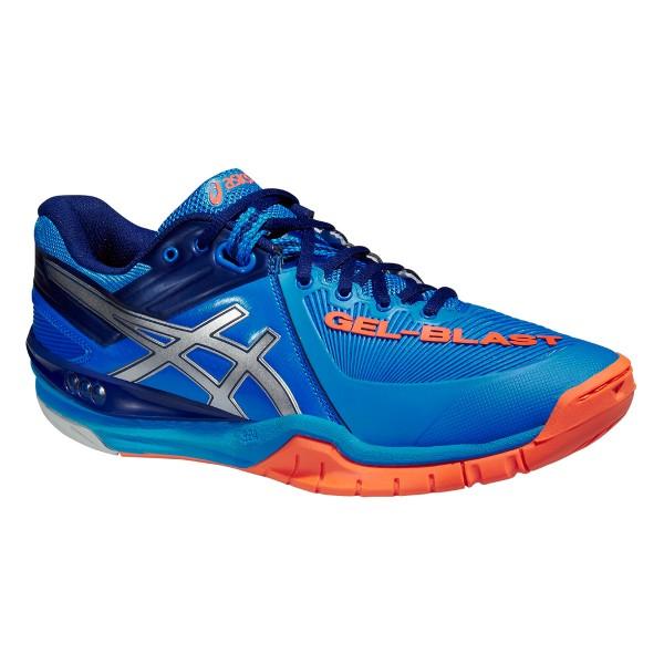 Die neuen Asics Handballschuhe Herren Gel-Blast 6 in blau/orange günstig kaufen