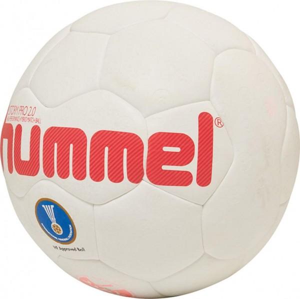 Der neue hummel Storm Pro 2.0 Handball in weiss-rot