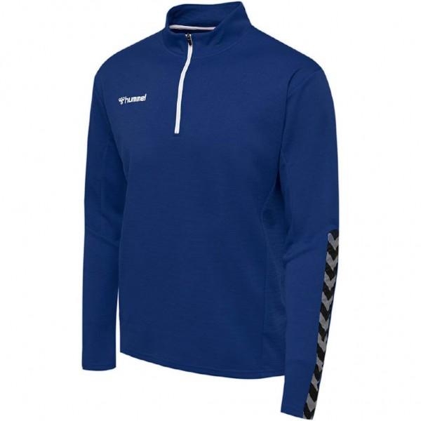 hummel-authentic-half-zip-sweat-blue