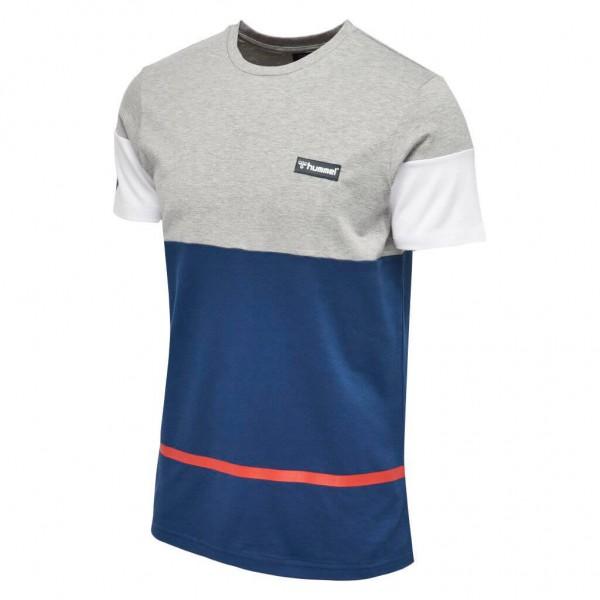 Das neue hummel Clan T-Shirt in grau-blau jetzt kaufen
