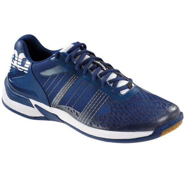 Die neuen Kempa Attack Three Contender Handballschuhe in midnight blue