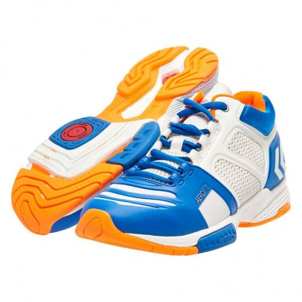 Die neuen hummel Aerocharge Handballschuhe in weiss blau kaufen