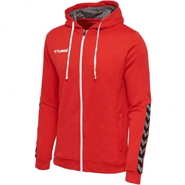 hummel-authentic-zip-hoodie-red
