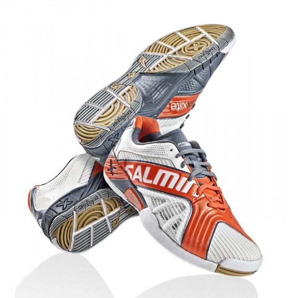 Salming X-Factor X-Lite Handballschuhe - white/orange