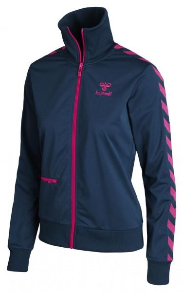 hummel Classic Bee Womens Zip Jacke in dunkelblau und pink